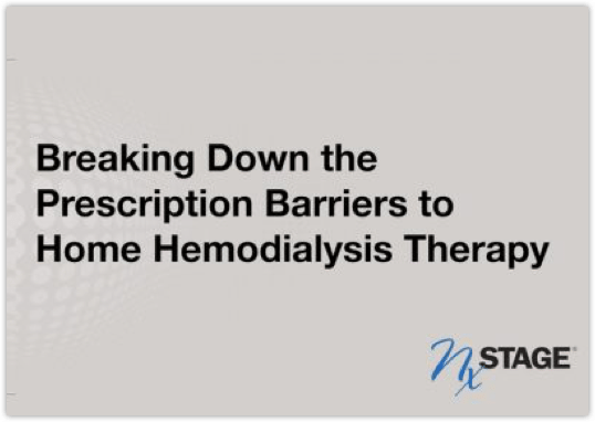 Breaking Down the Prescription Barriers to Home Haemodialysis